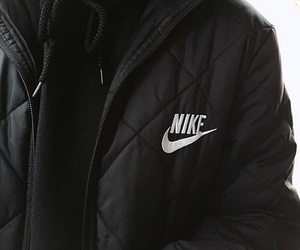 nike, black, and jacket image
