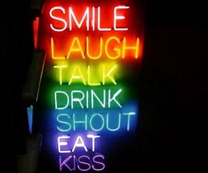 laugh, neon, and rainbow image
