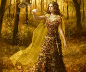 fantasy, autumn, and forest image