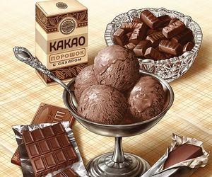 anime, chocolate, and ice cream image