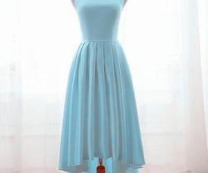 blue dress, weddings, and bridesmaid dress image