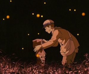 grave of the fireflies, sad, and hotaru no haka image