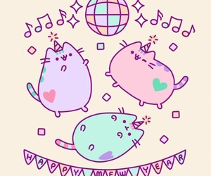 pusheen, cat, and party image