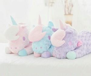 unicorn, pastel, and pink image