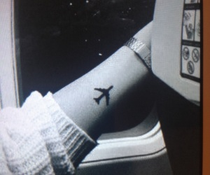 tattoo, plane, and travel image
