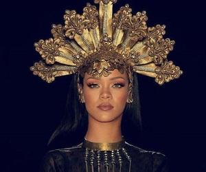 beautiful, gold, and rihanna image