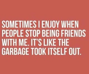 quote, garbage, and friends image