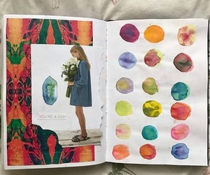 artsy, colourful, and journal art image