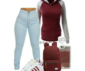 maroon, my set, and Polyvore image