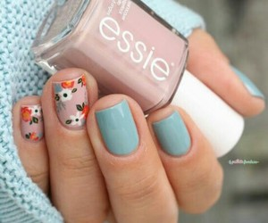 nails, blue, and fashion image