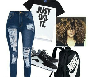 nike, Polyvore, and style image