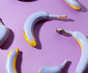 banana, purple, and aesthetic image