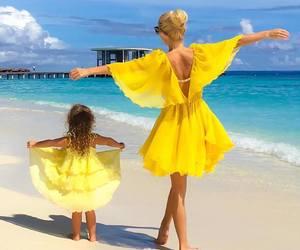 yellow, summer, and beach image