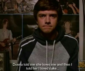 that 70s show, eric, and cake image