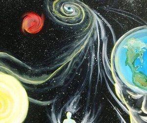 planetas, ojo, and universo image