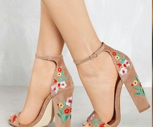 embroidery, heels, and shoes image