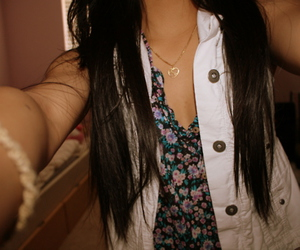 brunette, hair, and jewelry image