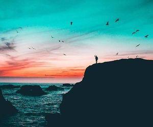 landscape, ocean, and sea image