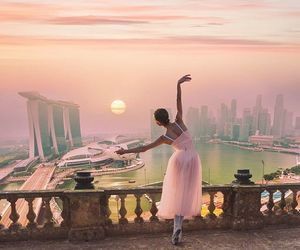 ballerina, dance, and pink image