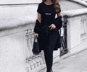 fashion, girl, and street style image