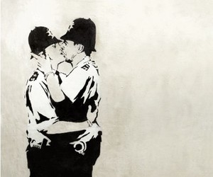 BANKSY and the kissing coppers image