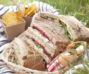 food, picnic, and sandwich image