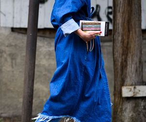 denim, streetstyle, and style image