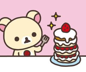 bear, japanese, and pink image