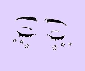 purple, eyes, and stars image