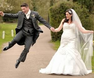 bride, wedding, and wife image