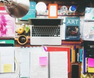 school, girl, and study image