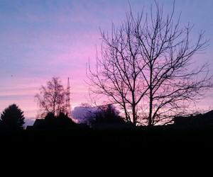 sky, grunge, and sunset image