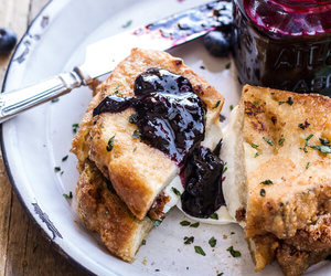blueberry, cheese, and food image