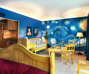 art, blue, and room image