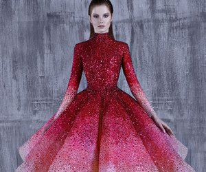 fashion, dress, and gown image