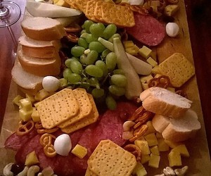 board, cheese, and food image