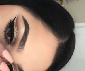 beauty, makeup, and eye makeup image