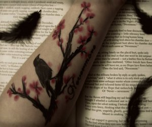 tattoo, edgar allan poe, and raven image