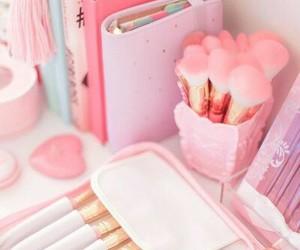 pink, pastel, and makeup image