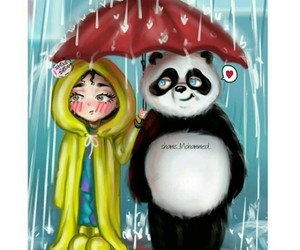girl and panda image