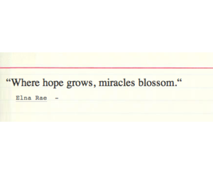 blossom, grow, and hope image