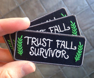 patches and trust fall survivor image