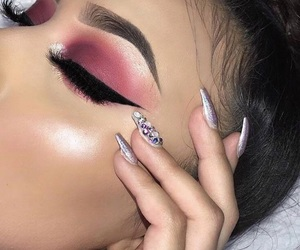 eyebrows, highlighter, and eyeshadow image