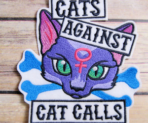 cat, cats, and patches image