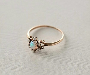 ring, emerald, and engagement image