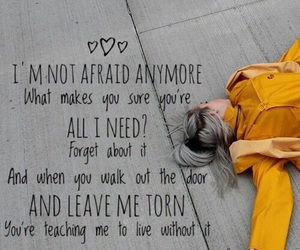 bored, Lyrics, and not afraid image