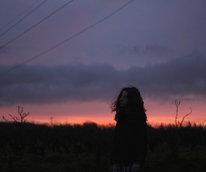 girl, sky, and indie image
