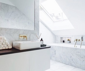 bathroom, design, and gold image