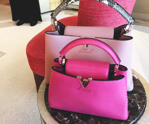 Louis Vuitton, luxury, and pink image