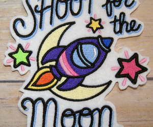 patches and shoot for the moon image
